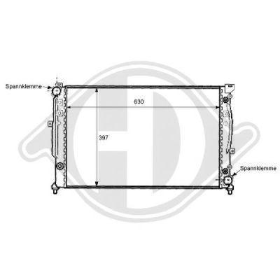 Radiateur, refroidissement du moteur - Diederichs Germany - 8101149