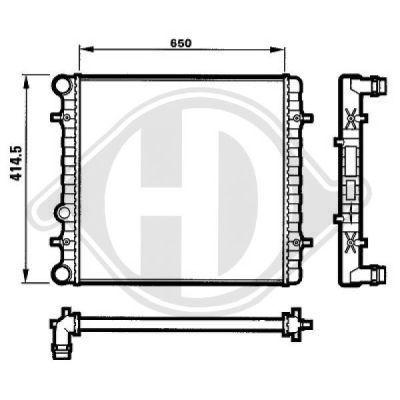 Radiateur, refroidissement du moteur - Diederichs Germany - 8101151