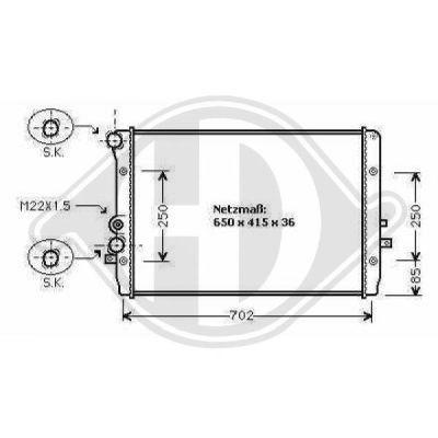 Radiateur, refroidissement du moteur - Diederichs Germany - 8101152