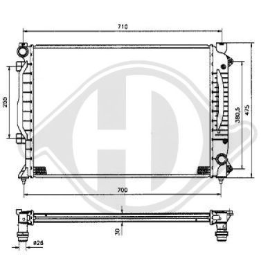 Radiateur, refroidissement du moteur - HDK-Germany - 77HDK8101155