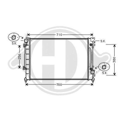 Radiateur, refroidissement du moteur - Diederichs Germany - 8101156