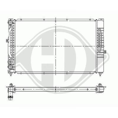 Radiateur, refroidissement du moteur - HDK-Germany - 77HDK8101230