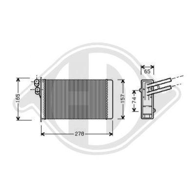 Caisse à eau, radiateur - Diederichs Germany - 8101415