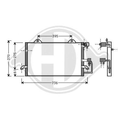Condenseur, climatisation - Diederichs Germany - 8101500