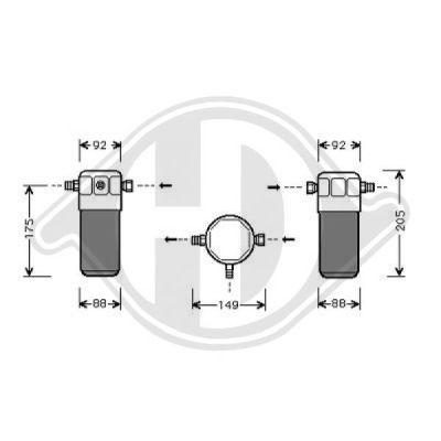 Filtre déshydratant, climatisation - Diederichs Germany - 8101502