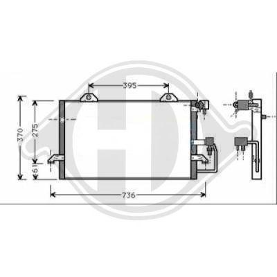 Condenseur, climatisation - Diederichs Germany - 8101503
