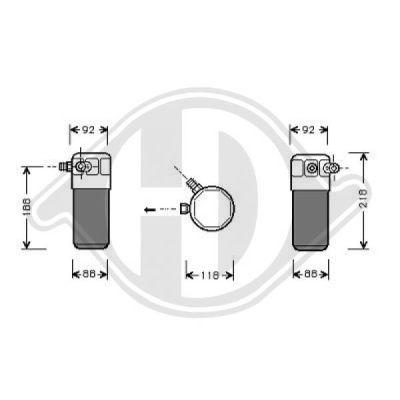 Filtre déshydratant, climatisation - Diederichs Germany - 8101505