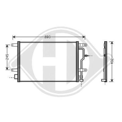 Condenseur, climatisation - Diederichs Germany - 8101700