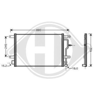 Condenseur, climatisation - Diederichs Germany - 8101701