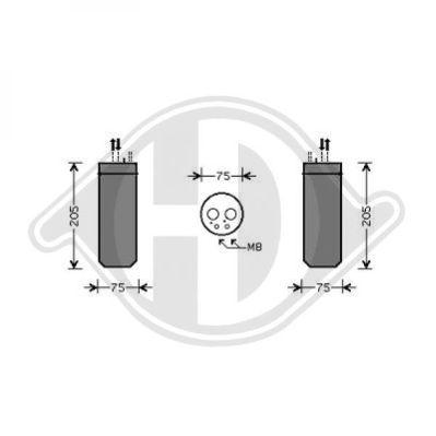 Filtre déshydratant, climatisation - Diederichs Germany - 8101702