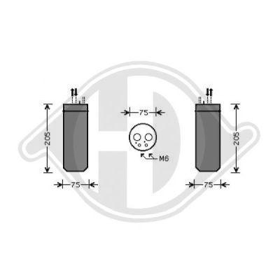Filtre déshydratant, climatisation - Diederichs Germany - 8101703