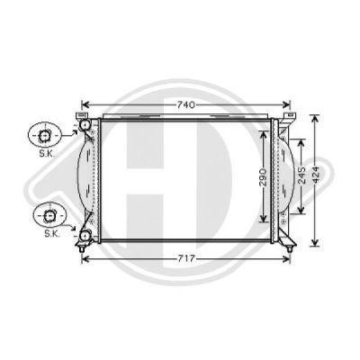 Radiateur, refroidissement du moteur - Diederichs Germany - 8101705