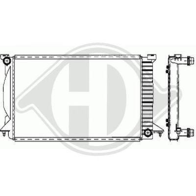 Radiateur, refroidissement du moteur - Diederichs Germany - 8101706