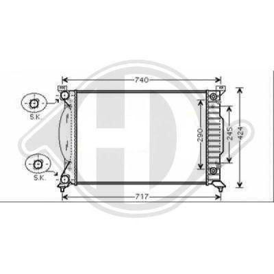 Radiateur, refroidissement du moteur - Diederichs Germany - 8101707