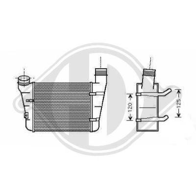Intercooler, échangeur - Diederichs Germany - 8101708