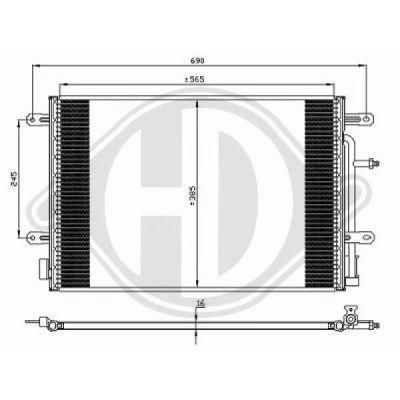 Condenseur, climatisation - Diederichs Germany - 8101711