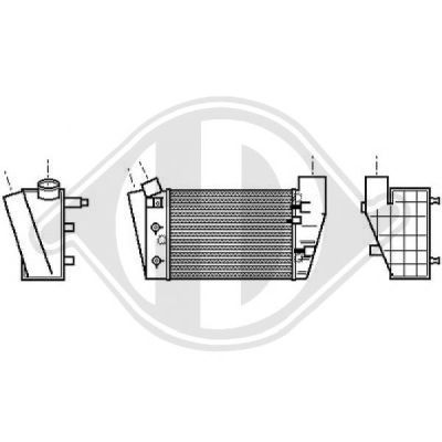 Intercooler, échangeur - Diederichs Germany - 8101719