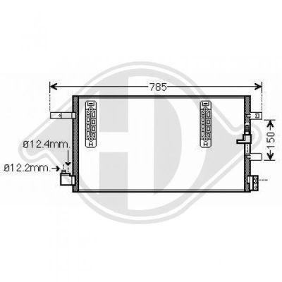 Condenseur, climatisation - HDK-Germany - 77HDK8101800