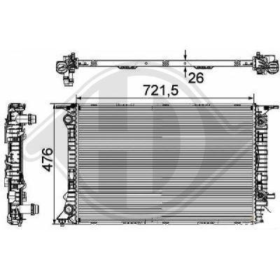 Radiateur, refroidissement du moteur - Diederichs Germany - 8101806