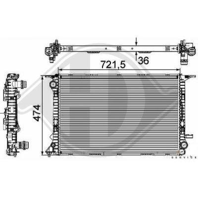 Radiateur, refroidissement du moteur - HDK-Germany - 77HDK8101807