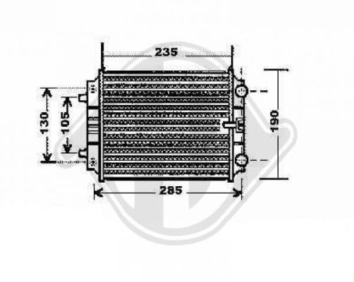 Radiateur, refroidissement du moteur - Diederichs Germany - 8101809