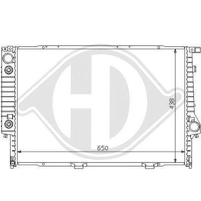 Radiateur, refroidissement du moteur - Diederichs Germany - 8102102