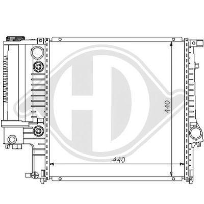 Radiateur, refroidissement du moteur - Diederichs Germany - 8102103