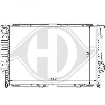 Radiateur, refroidissement du moteur - Diederichs Germany - 8102104