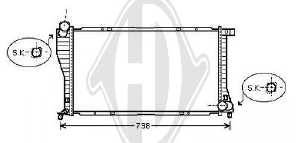 Radiateur, refroidissement du moteur - HDK-Germany - 77HDK8102105