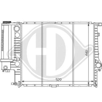 Radiateur, refroidissement du moteur - HDK-Germany - 77HDK8102107