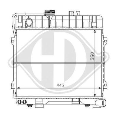 Radiateur, refroidissement du moteur - Diederichs Germany - 8102150