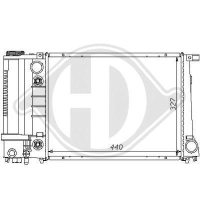 Radiateur, refroidissement du moteur - HDK-Germany - 77HDK8102160
