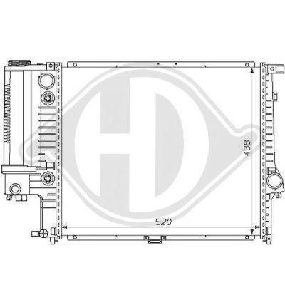 Radiateur, refroidissement du moteur - Diederichs Germany - 8102162