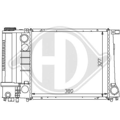 Radiateur, refroidissement du moteur - Diederichs Germany - 8102166