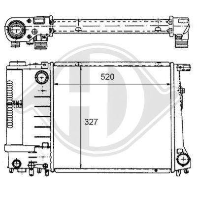 Radiateur, refroidissement du moteur - HDK-Germany - 77HDK8102169