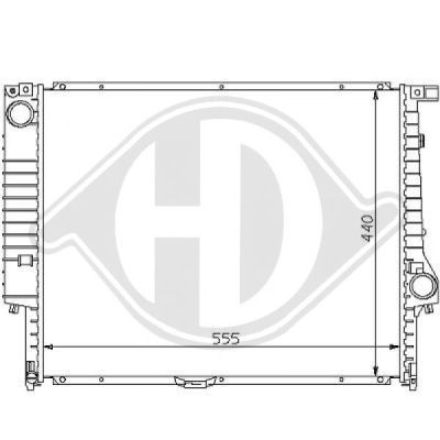 Radiateur, refroidissement du moteur - HDK-Germany - 77HDK8102171