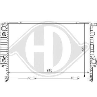 Radiateur, refroidissement du moteur - Diederichs Germany - 8102177