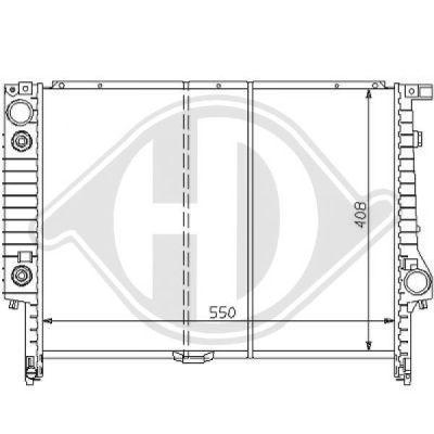 Radiateur, refroidissement du moteur - HDK-Germany - 77HDK8102180