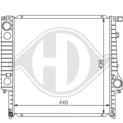 Radiateur, refroidissement du moteur - Diederichs Germany - 8102183