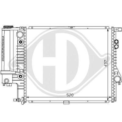 Radiateur, refroidissement du moteur - Diederichs Germany - 8102188
