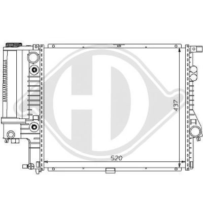 Radiateur, refroidissement du moteur - HDK-Germany - 77HDK8102189