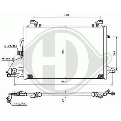 Condenseur, climatisation - Diederichs Germany - 8102201