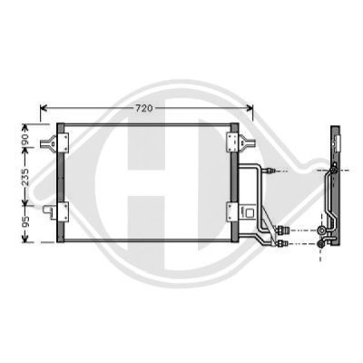 Condenseur, climatisation - Diederichs Germany - 8102400