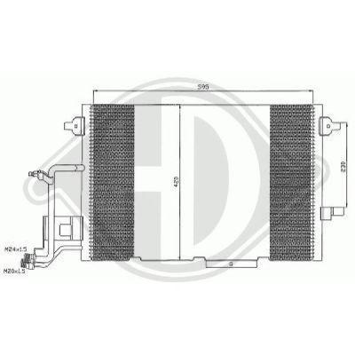 Condenseur, climatisation - Diederichs Germany - 8102401