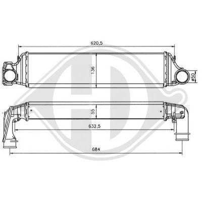 Intercooler, échangeur - HDK-Germany - 77HDK8102410