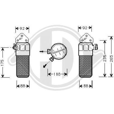 Filtre déshydratant, climatisation - Diederichs Germany - 8102509