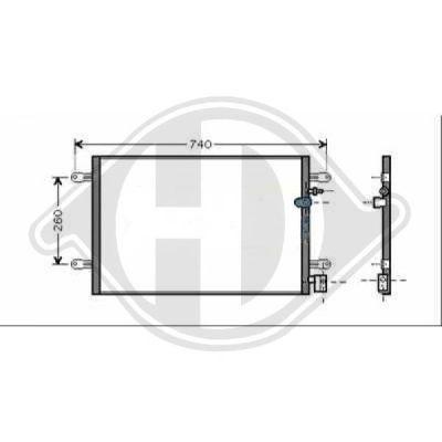Condenseur, climatisation - HDK-Germany - 77HDK8102600