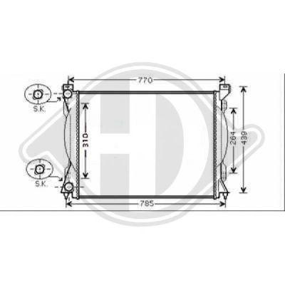 Radiateur, refroidissement du moteur - Diederichs Germany - 8102610