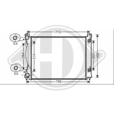 Radiateur, refroidissement du moteur - Diederichs Germany - 8102611