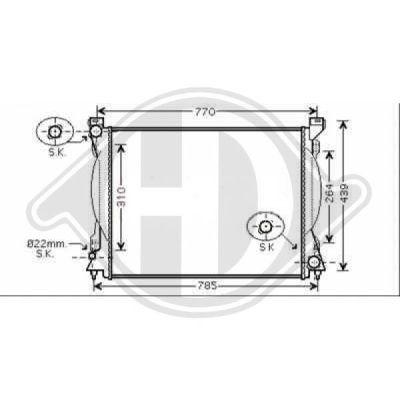 Radiateur, refroidissement du moteur - Diederichs Germany - 8102612